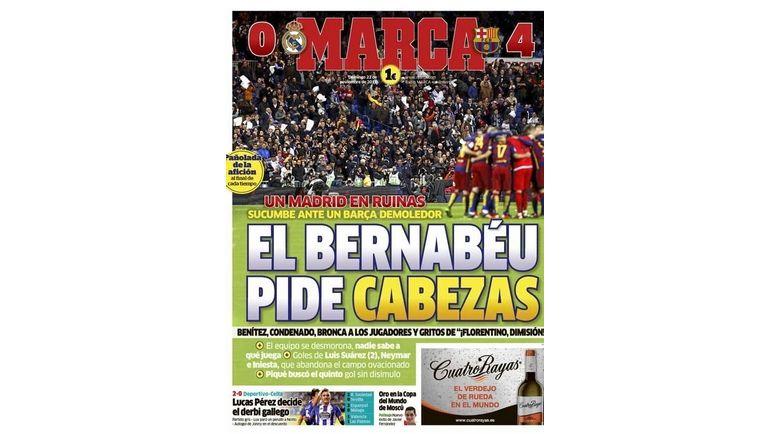 Главная страница газеты Marca. Фото marca.com