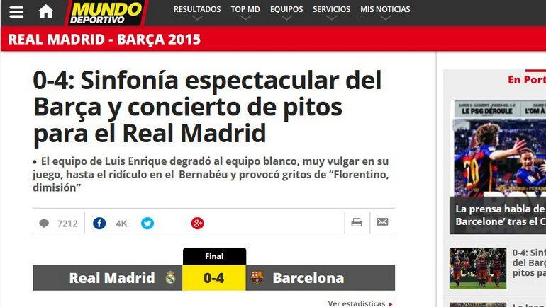 Заголовок Mundo Deportivo. Фото mundodeportivo.com