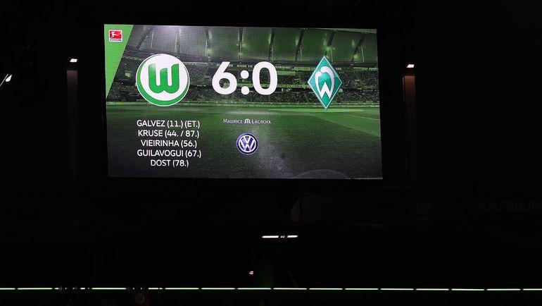 """Суббота. Вольфсбург. """"Вольфсбург"""" – """"Вердер"""" – 6:0. """"Волки"""" сокрушили гостей из Бремена. Фото REUTERS"""