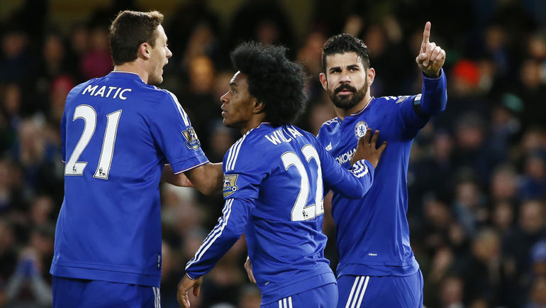 """Суббота. Лондон. """"Челси"""" - """"Норвич"""" - 1:0. Благодаря голу Диего КОСТЫ (справа) """"Челси"""" одержал первую победу за месяц. Фото Reuters"""