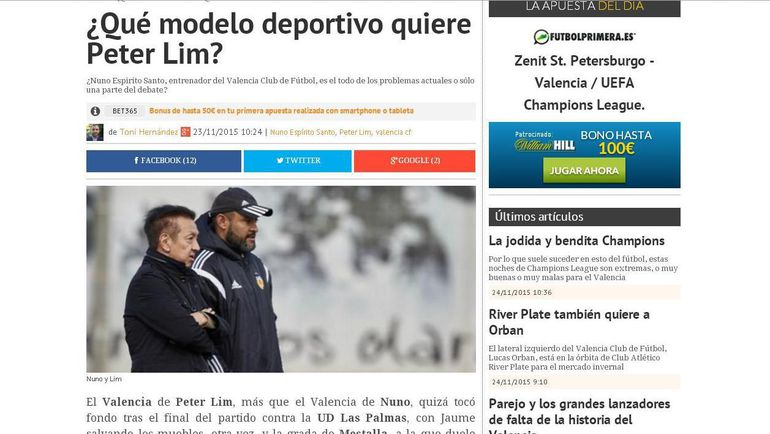 """Deporte Valenciano. Фото """"СЭ"""""""