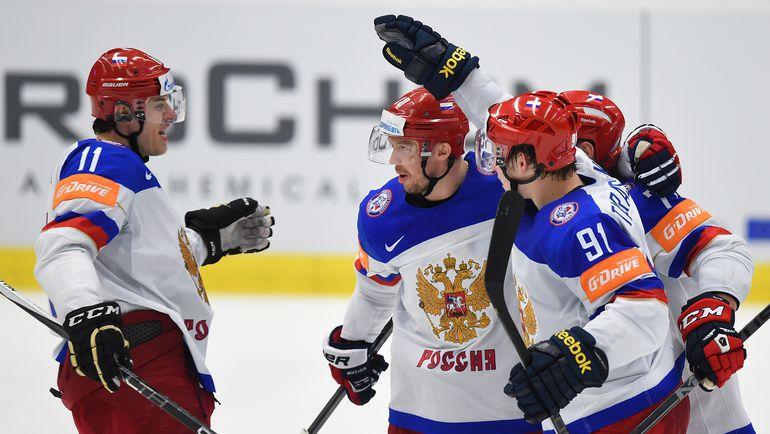 Дружная сборная России на ЧМ в Чехии. Фото REUTERS