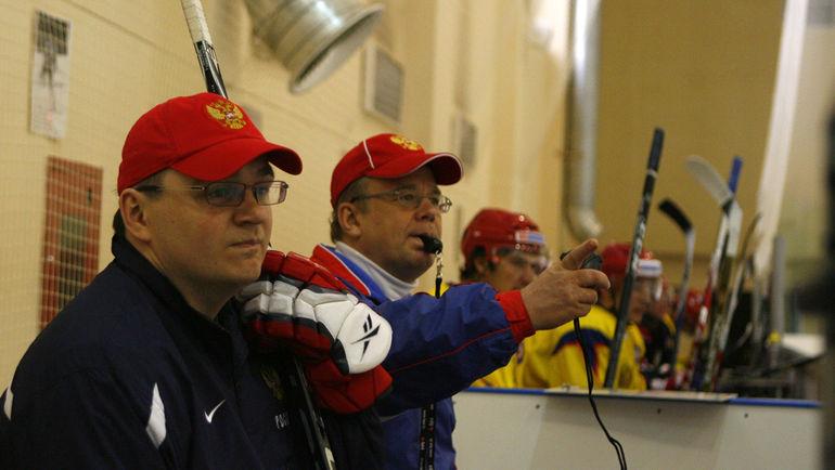 Андрей НАЗАРОВ (слева) и Игорь ЗАХАРКИН, работавшие вместе в сборной России, сегодня будут противостоять друг другу в КХЛ. Фото Алексей ИВАНОВ, «СЭ»