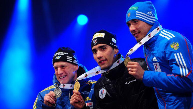 Карл-Юхан БЕРГМАН (слева) завершил карьеру, Мартен ФУРКАД (в центре) пропустит стартовую гонку сезона, а Антон ШИПУЛИН постарается проявить себя в супермиксе. Фото AFP