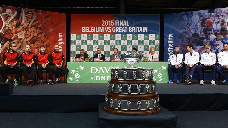 Финал Кубка Дэвиса в Генте. Фото REUTERS