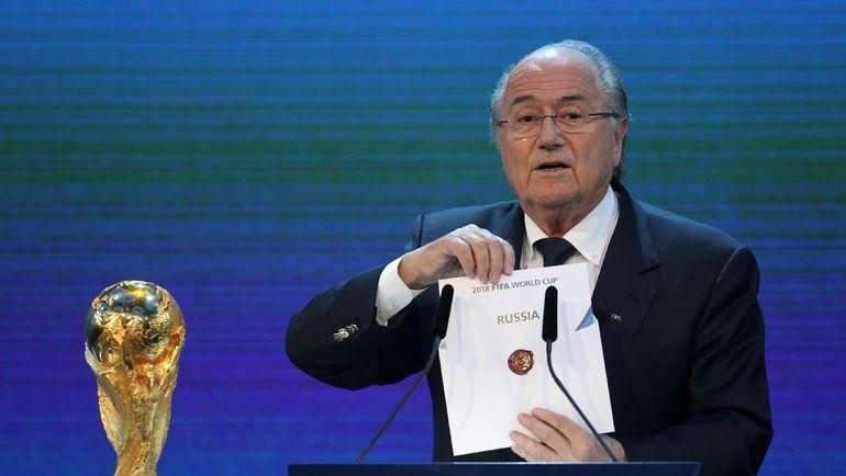 2 декабря 2010 года. Цюрих. Йозеф БЛАТТЕР: чемпионат мира-2018 пройдет в России. Фото AFP