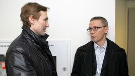Легенды российского хоккея - Игорь ЛАРИОНОВ (справа) и Сергей ФЕДОРОВ.