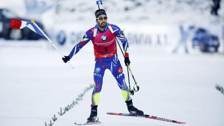 Сегодня. Эстерсунд. Победный финиш Мартена ФУРКАДА. Фото AFP