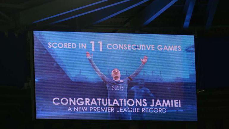 Поздравления Джейми Варди в Лестере. Фото AFP
