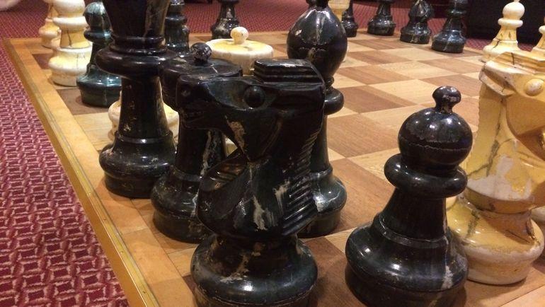 """Гигантские шахматы. Фото Дмитрий СИМОНОВ, """"СЭ"""""""