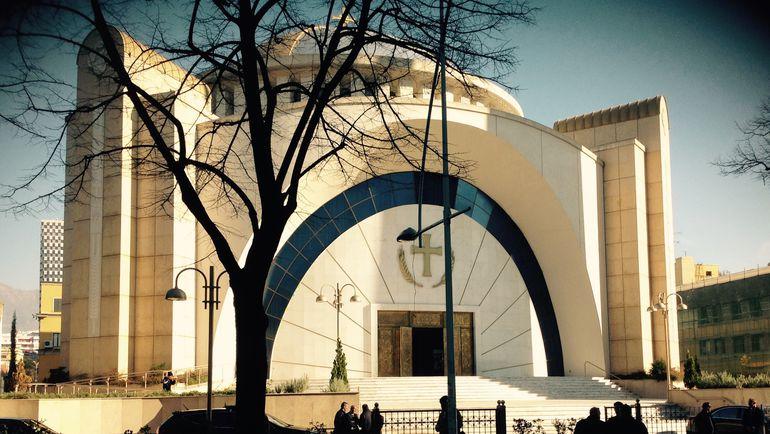 """Сегодня. Тирана. Христианский храм в албанской столице. Фото """"СЭ"""""""