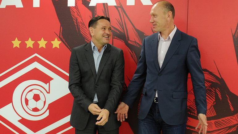 """Сергей РОДИОНОВ (справа) и Дмитрий АЛЕНИЧЕВ. Фото Алексей ИВАНОВ, """"СЭ"""""""