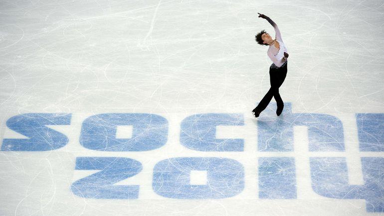 Юдзуру ХАНЮ в олимпийском Сочи. Фото AFP