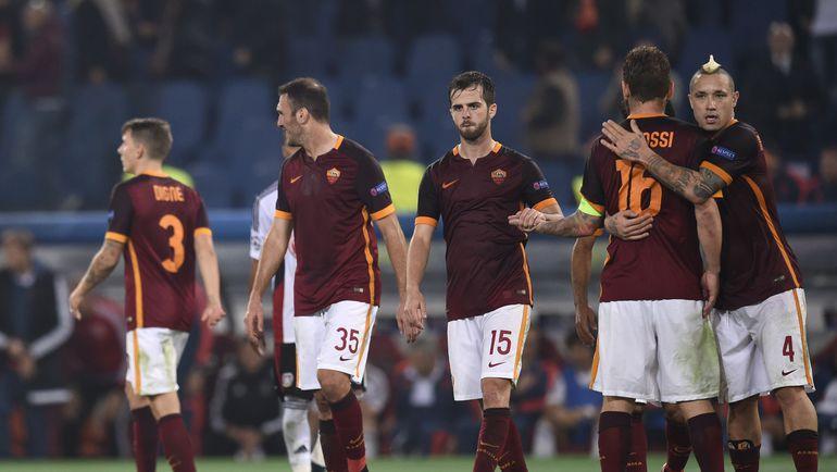 """""""Рома"""" шагнула в плей-офф Лиги чемпионов, набрав на групповом этапе всего шесть очков. Фото AFP"""