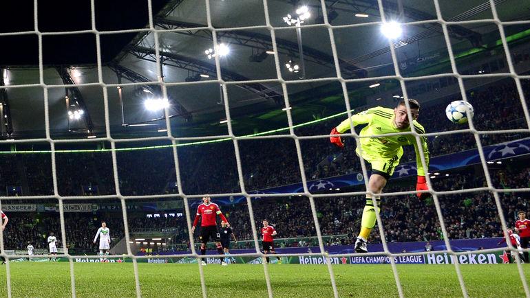 """Вторник. Вольфсбург. """"Вольфсбург"""" - """"Манчестер Юнайтед"""" - 3:2. Давид ДЕ ХЕА пропустил два очень красивых гола. Фото AFP"""
