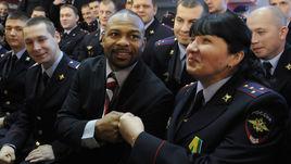 Рой ДЖОНС на встрече с московскими полицейскими.