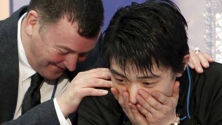 Брайан ОРСЕР (слева) и Юдзуру ХАНЮ на NHK Trophy. Фото Reuters