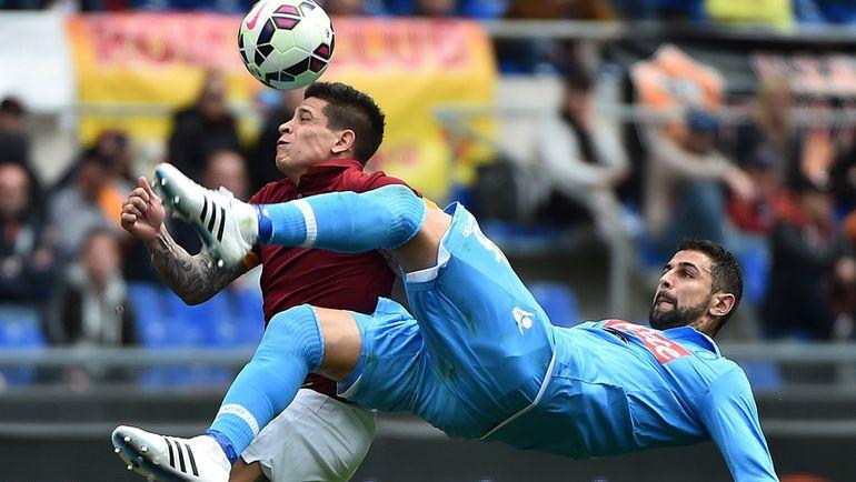 В воскресенье в Неаполе встретятся третья и четвертая команды чемпионата Италии. Фото AFP