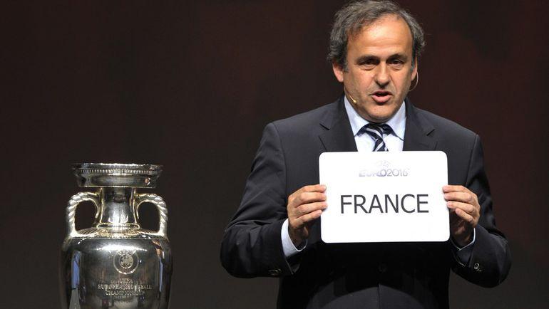 Отстраненный от исполнения своих обязанностей глава УЕФА Мишель ПЛАТИНИ. Фото REUTERS