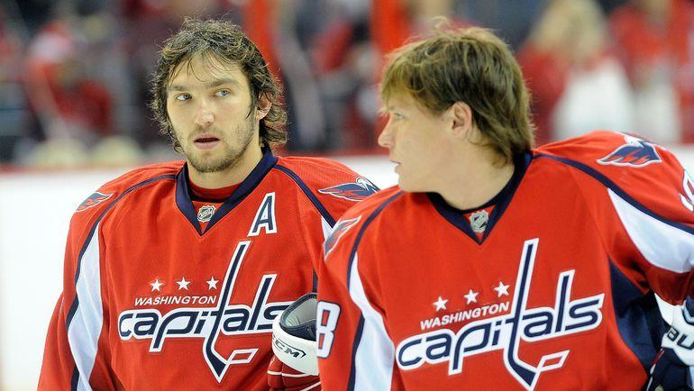 Александр ОВЕЧКИН и Александр СЕМИН. Фото AFP