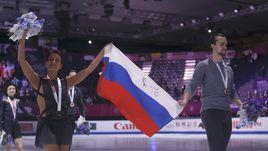 Вчера. Барселона. Ксения СТОЛБОВА и Федор КЛИМОВ празднуют победу в финале