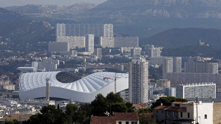 "Марсель. Вид на стадион ""Велодром"". Фото REUTERS"