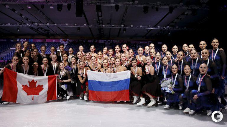 Россиянки - победительницы в синхронном катании.