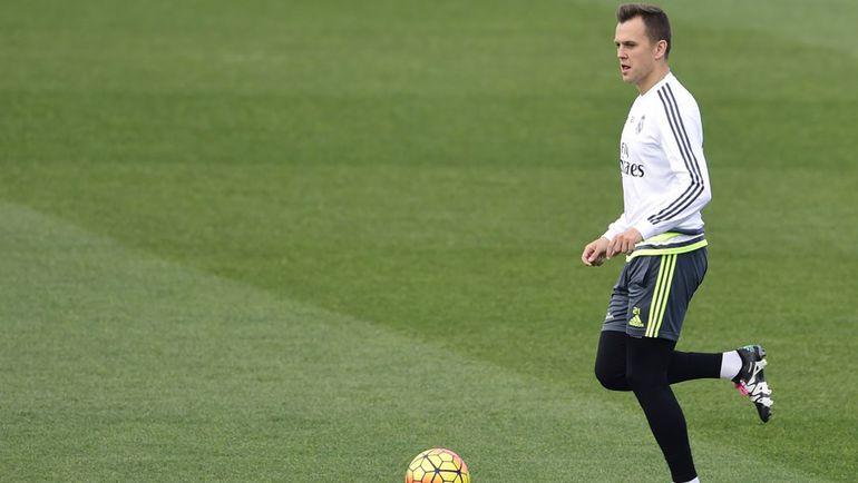 """Денис ЧЕРЫШЕВ на тренировке """"Реала"""". Фото AFP"""