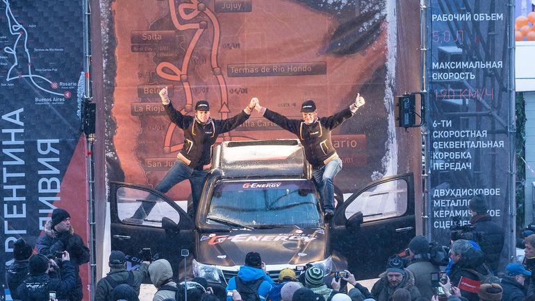 В центре Москвы прошел торжественный старт российской команды G-Energy Team на легендарную гонку. Фото G-Energy Team
