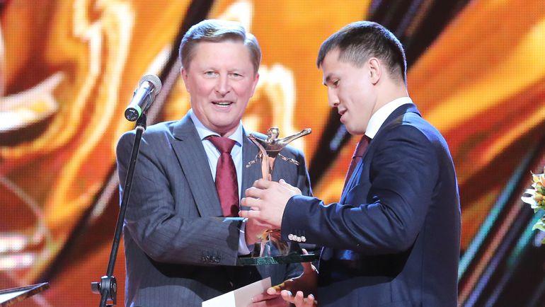 Глава администрации президента Сергей ИВАНОВ и чемпион мира-2015 Роман ВЛАСОВ.