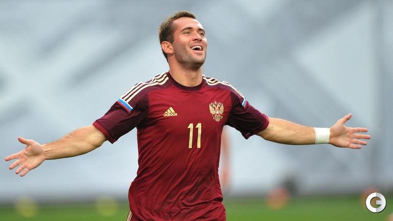 Александр КЕРЖАКОВ в сборной России (2014 год).