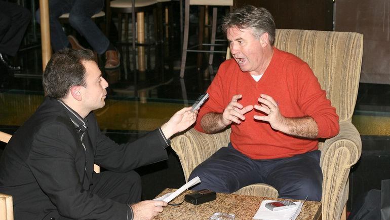 Осень 2006 года. Москва. Отель Ararat-Hyatt. Игорь РАБИНЕР берет интервью у Гуса ХИДДИНКА.