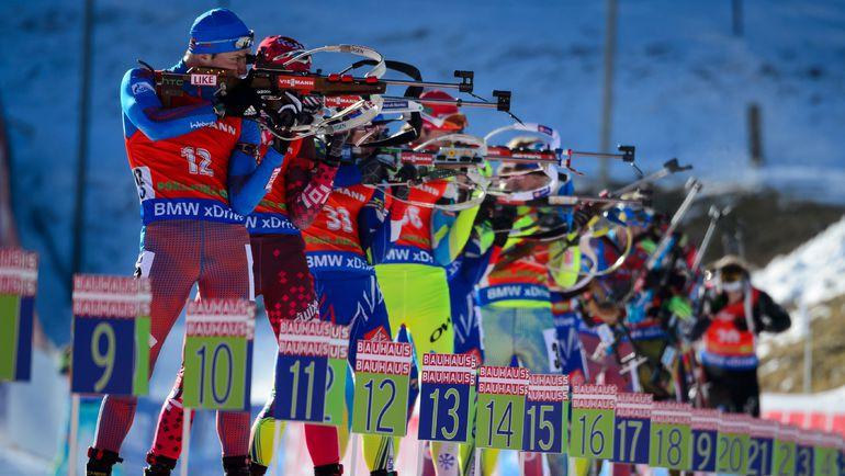 Вчера. Поклюка. Мужская гонка преследования. Фото AFP