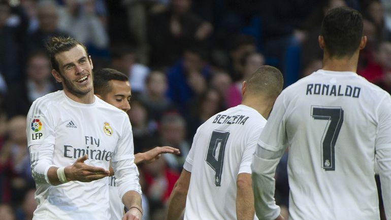 """Вчера. Мадрид. """"Реал"""" - """"Райо Вальекано"""" - 10:2. Гарет БЭЙЛ, Хамес РОДРИГЕС, Карим БЕНЗЕМА и КРИШТИАНУ РОНАЛДУ. Фото AFP"""