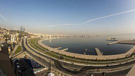 Часть трассы в Баку.
