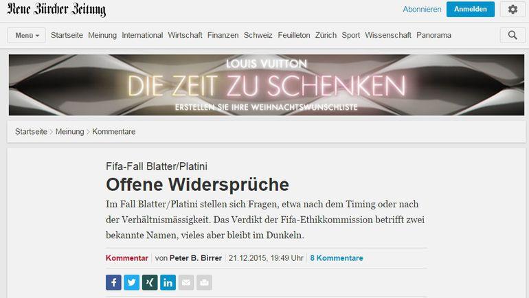"""Neue Zurcher Zeitung. Фото """"СЭ"""""""