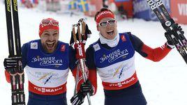 У серебряных призеров чемпионата мира-2015 Алексея ПЕТУХОВА (слева) и Никиты КРЮКОВА мало что получается в нынешнем сезоне.