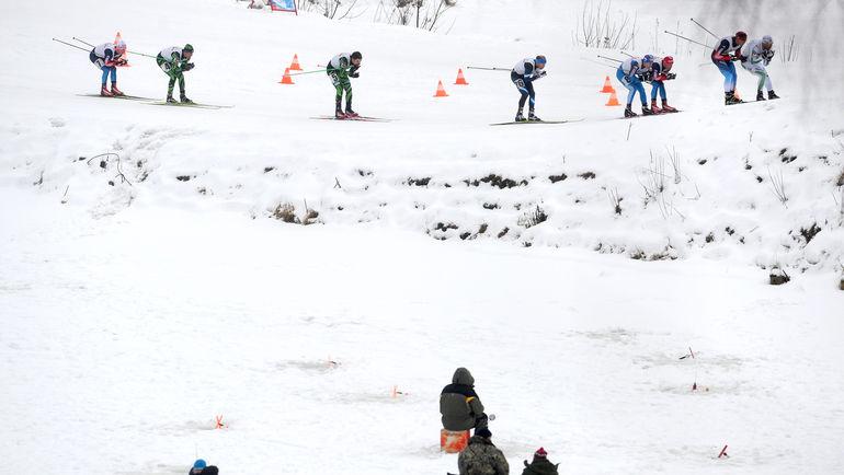 """В последнее время """"Красногорская лыжня"""" проходила почти без зрителей, а в этом году из-за отсутствия снега не состоится вовсе. Фото Федор УСПЕНСКИЙ, """"СЭ"""""""
