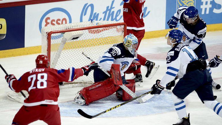 Сегодня. Хельсинки. Россия – Финляндия – 6:4. Егор РЫКОВ празднует одно из шести взятий ворот финнов. Фото Reuters