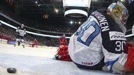 Сегодня. Хельсинки. Россия - Финляндия - 6:4. Только что в ворота финнов влетела пятая шайба.