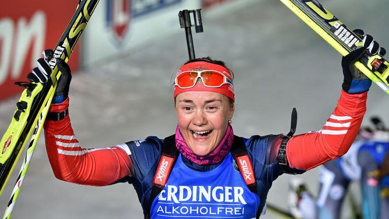 11 марта. Контиолахти. Екатерина ЮРЛОВА - чемпионка мира! Фото AFP
