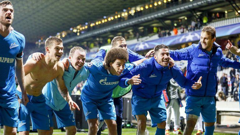 """""""Зенит"""": 5 побед в группе Лиги чемпионов - и в плей-офф с первого места. Фото Reuters"""
