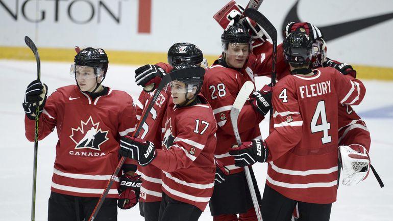 Вчера. Хельсинки. Швейцария - Канада - 2:3 Б. Канадцы празднуют победу. Фото REUTERS