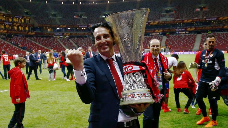 Унаи ЭМЕРИ сохранил Кубок УЕФА. Фото Reuters