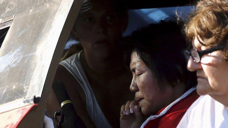 Суббота. Арресифе. Китаянка Го Мэйлин не справилась с управлением и на джипе врезалась в толпу зрителей. Фото Reuters