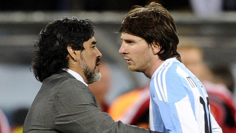 Диего МАРАДОНА и Лионель МЕССИ. Фото Reuters