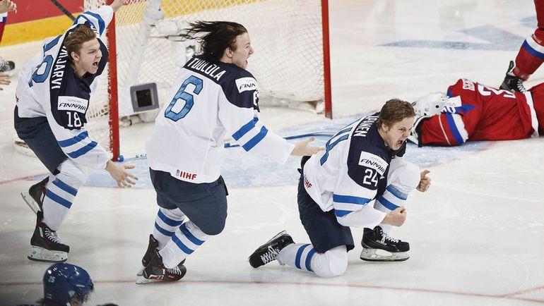 Вторник. Хельсинки. Россия - Финляндия - 3:4 ОТ. Только что финны провели решающий выпад в овертайме. Фото REUTERS