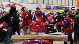 6 января. Шереметьево. Прилет молодежной сборной России по хоккею.