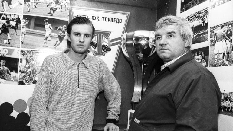 Сергей ШУСТИКОВ с отцом Виктором. Фото Александр ФЕДОРОВ, «СЭ»