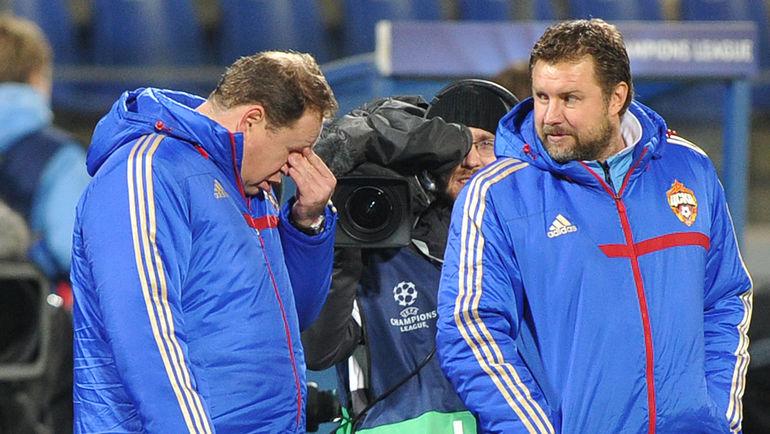 Сергей ШУСТИКОВ (справа) и Леонид СЛУЦКИЙ. Фото Александр ФЕДОРОВ, «СЭ»